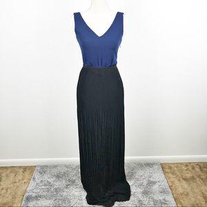 Madewell Twist Back Pleated Maxi Dress Semiformal